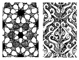 Ornamen pola geometris dan Arabesk