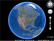 Globe Bumi melalui Google Earth